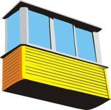 πλαστικό μπαλκόνι Στοκ φωτογραφία με δικαίωμα ελεύθερης χρήσης