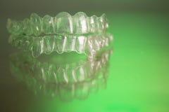 Πλαστικό οδοντικό orthodontics στοκ εικόνες με δικαίωμα ελεύθερης χρήσης