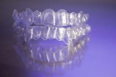 Πλαστικό οδοντικό orthodontics στοκ φωτογραφία με δικαίωμα ελεύθερης χρήσης