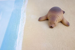 Πλαστικό παιχνίδι λιονταριών θάλασσας με τον αριθμό Στοκ Φωτογραφίες