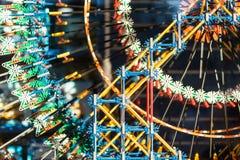 πλαστικό παιχνίδι σωρών χρώματος τούβλων Στοκ Φωτογραφίες