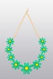 Πλαστικό περιδέραιο μπεζ λουλούδι πέντε ελεύθερη απεικόνιση δικαιώματος