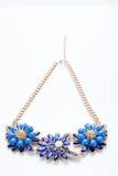 Πλαστικό περιδέραιο μπλε λουλούδι τρία απεικόνιση αποθεμάτων
