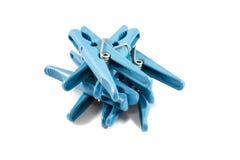 Πλαστικό clothespegs Στοκ φωτογραφία με δικαίωμα ελεύθερης χρήσης