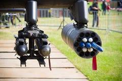 Πλαστοί πύραυλοι ελικοπτέρων Στοκ εικόνες με δικαίωμα ελεύθερης χρήσης