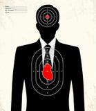 Πλαστός επιχειρηματίας - στόχος σειράς πυροβολισμού ελεύθερη απεικόνιση δικαιώματος
