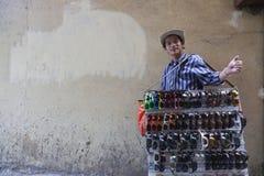 Πλαστός πωλητής του Ray Ban Στοκ Φωτογραφίες