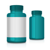 Πλαστό επάνω ιατρικό πλαστικό μπουκάλι Στοκ εικόνα με δικαίωμα ελεύθερης χρήσης