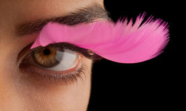Πλαστό Eyelashes Στοκ φωτογραφία με δικαίωμα ελεύθερης χρήσης