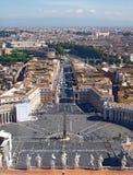 Πλατεία Αγίου Peters στη Ρώμη Στοκ Εικόνες
