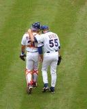 Πλατεία και Shawn Estes, New York Mets του Mike Στοκ φωτογραφίες με δικαίωμα ελεύθερης χρήσης