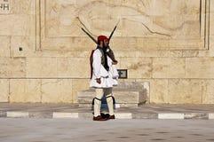 Πλατεία Συντάγματος Αθήνα, ελληνικά evzones Στοκ φωτογραφία με δικαίωμα ελεύθερης χρήσης
