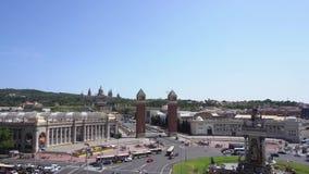 πλατεία της Βαρκελώνης Ισπανία φιλμ μικρού μήκους