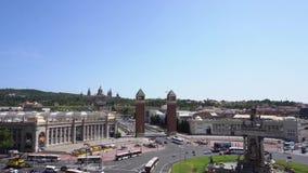 πλατεία της Βαρκελώνης Ισπανία απόθεμα βίντεο