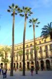 Πλατεία της Βαρκελώνης Στοκ φωτογραφία με δικαίωμα ελεύθερης χρήσης
