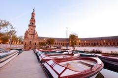 Πλατεία της Ισπανίας, Σεβίλλη - Ισπανία Στοκ Εικόνες