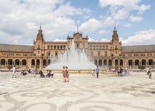 Πλατεία της Ισπανίας, Σεβίλη, Ισπανία (Plaza de Espana, Σεβίλλη) Στοκ φωτογραφία με δικαίωμα ελεύθερης χρήσης