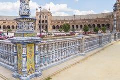 Πλατεία της Ισπανίας, Σεβίλη, Ισπανία (Plaza de Espana, Σεβίλλη) Στοκ Φωτογραφίες