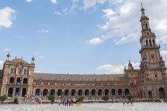 Πλατεία της Ισπανίας, Σεβίλη, Ισπανία (Plaza de Espana, Σεβίλλη) Στοκ Εικόνες
