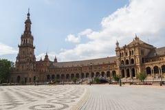 Πλατεία της Ισπανίας, Σεβίλη, Ισπανία (Plaza de Espana, Σεβίλλη) Στοκ φωτογραφίες με δικαίωμα ελεύθερης χρήσης