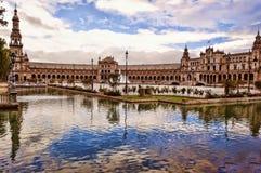 Πλατεία της Ισπανίας, Σεβίλη Στοκ εικόνα με δικαίωμα ελεύθερης χρήσης