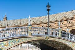 Πλατεία της Ισπανίας στη Σεβίλη, Ανδαλουσία, Ισπανία Στοκ Εικόνα