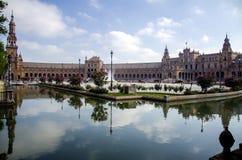 Πλατεία της Ισπανίας στη Σεβίλλη, Ισπανία Στοκ Φωτογραφίες
