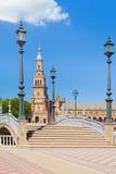 Πλατεία της Ισπανίας στη Σεβίλη σε μια θερινή ημέρα Στοκ Εικόνες