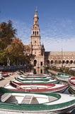 Πλατεία της Ισπανίας στη Σεβίλη Στοκ Φωτογραφία