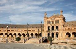 Πλατεία της Ισπανίας στη Σεβίλη Στοκ Εικόνα