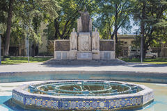 Πλατεία της Ιταλίας (Plaza Ιταλία) σε Mendoza, Αργεντινή. Στοκ φωτογραφία με δικαίωμα ελεύθερης χρήσης