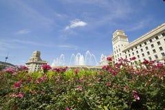 Πλατεία της Καταλωνίας. Βαρκελώνη, Ισπανία. Στοκ εικόνες με δικαίωμα ελεύθερης χρήσης