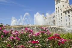 Πλατεία της Καταλωνίας. Βαρκελώνη, Ισπανία. Στοκ Εικόνες