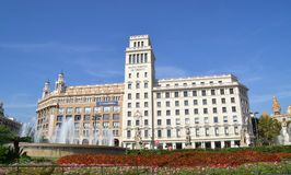 Πλατεία της Καταλωνίας στη Βαρκελώνη, Ισπανία Στοκ Εικόνες