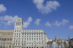 Πλατεία της Καταλωνίας Στοκ εικόνα με δικαίωμα ελεύθερης χρήσης