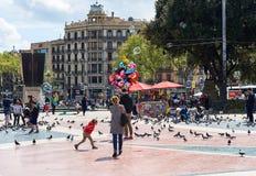 Πλατεία της Καταλωνίας (Plaza de καταλωνία), Ισπανία Στοκ Εικόνες