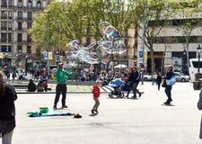 Πλατεία της Καταλωνίας (Plaza de καταλωνία) Στοκ φωτογραφία με δικαίωμα ελεύθερης χρήσης
