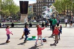 Πλατεία της Καταλωνίας (Plaza de καταλωνία) Στοκ Εικόνες
