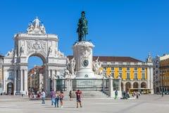 πλατεία της Λισσαβώνας &epsilo Στοκ Φωτογραφίες