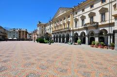 Πλατεία της πόλης Aosta Στοκ Εικόνες