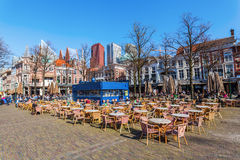 Πλατεία της πόλης Het Plein στη Χάγη, Κάτω Χώρες Στοκ εικόνα με δικαίωμα ελεύθερης χρήσης