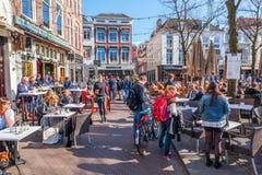 Πλατεία της πόλης Het Plein στη Χάγη, Κάτω Χώρες Στοκ φωτογραφία με δικαίωμα ελεύθερης χρήσης