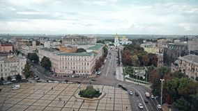 Πλατεία της Sophia και μοναστήρι του ST Michael ` s, Κίεβο απόθεμα βίντεο