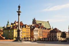 Πλατεία του Castle στη Βαρσοβία, Πολωνία στοκ εικόνες με δικαίωμα ελεύθερης χρήσης