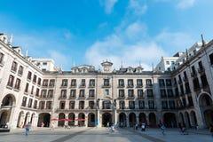 Πλατεία του Pedro Velarde στο σαντάντερ Στοκ εικόνα με δικαίωμα ελεύθερης χρήσης