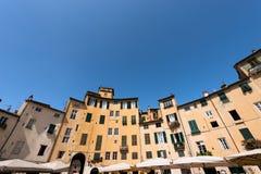 Πλατεία Anfiteatro - Lucca Τοσκάνη Ιταλία Στοκ φωτογραφίες με δικαίωμα ελεύθερης χρήσης