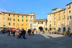 Πλατεία Anfiteatro, Lucca Στοκ εικόνα με δικαίωμα ελεύθερης χρήσης