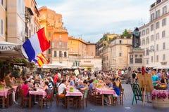 Πλατεία Campo de Fiori στη Ρώμη, Ιταλία Στοκ εικόνα με δικαίωμα ελεύθερης χρήσης