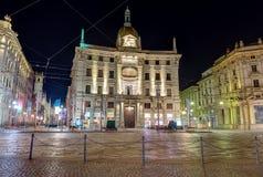 Πλατεία Cordusio, Μιλάνο, Ιταλία Στοκ Φωτογραφίες