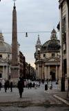 Πλατεία del popolo της Ρώμης Στοκ φωτογραφίες με δικαίωμα ελεύθερης χρήσης